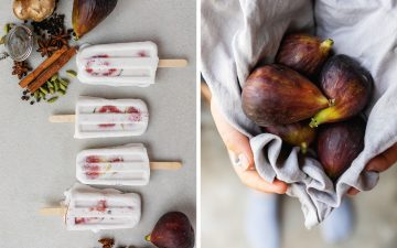 Chai Spiced Coconut and Fig Popsicles [Canberra Food Photographer]