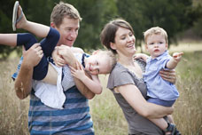 Dodging The Rain [Canberra Family Portrait Photographer]